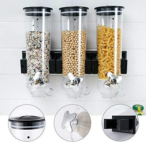 Unda118 Almacenamiento de Cocina Dispensador de Alimentos Máquina de Cereales de autoservicio montada en la Pared Plástico hermético (style2)