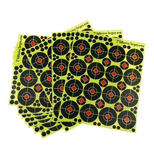 dailymall 160 Stücke Schießscheiben Reactive Range Paper Target Für Das