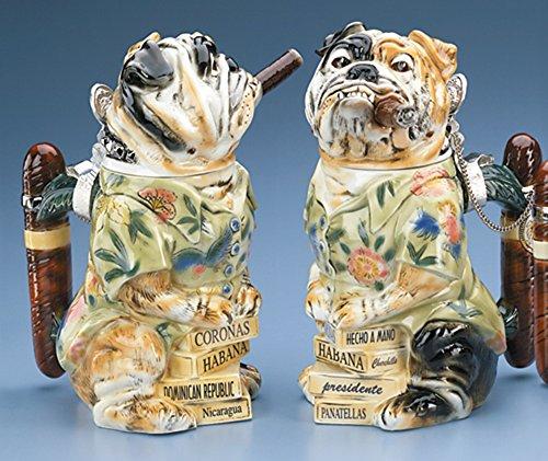 Bulldog Stein w/Cigar Man's Best Friend Figurine Collection German Beer Stein Limited Edition