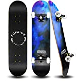 PHOEROS Skateboards -Standard Skateboards for Kids Boys Girls Youths Beginners Starter-Complete Skate Boards 31''x 8''Canadian Maple Pro Cruiser