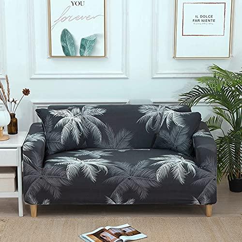 ASCV Funda de sofá elástica con impresión, sofá de Esquina, Fundas de sofá elásticas, Fundas de sofás nórdicos Modernos para Sala de Estar A4 4 plazas