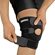 Bracoo KS10 Knee Support, Open-Patella Stabiliser & Fully-Adjustable Neoprene Brace – Arthritic Pain Relief, Sports Injury Rehabilitation & Protection against Reinjury