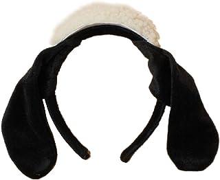 Diadema de oveja blanca y negra con orejas de Alicia