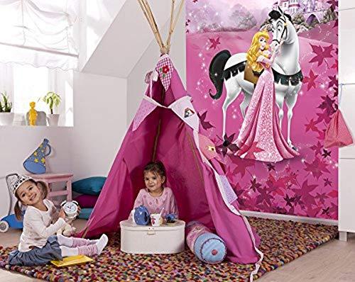 Komar 4-495 Fototapete Sleeping Beauty, Pink, 184 x 254 cm (Breite x Höhe), 4 Teile