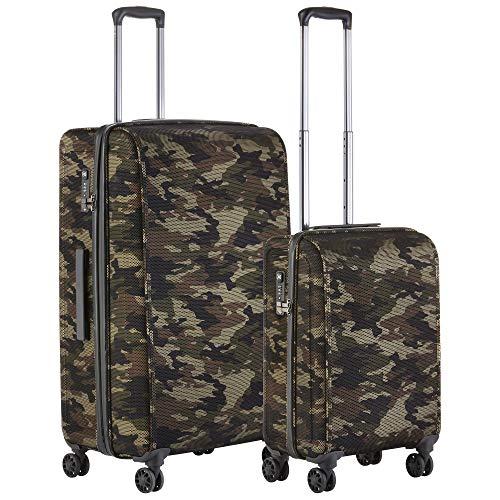 CarryOn Juego de maletas híbridas de camuflaje, equipaje TSA y 79 cm, ultraligero, registro OKOBAN