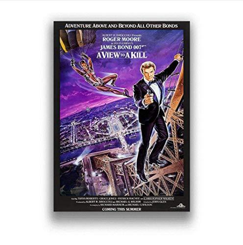 Póster De Película Clásico 007 Lienzo Pintura Carteles E Impresiones Imágenes En La Decoración De La Pared Vintage Home Decorativo 50X70Cm Ju-2610
