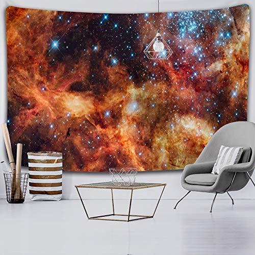 JXWR Universo Espacio Nebulosa Arte Tapiz Impreso Tela de Pared Colgante de Pared Toalla de Playa Mandala Manta Fina Yoga 150x130cm