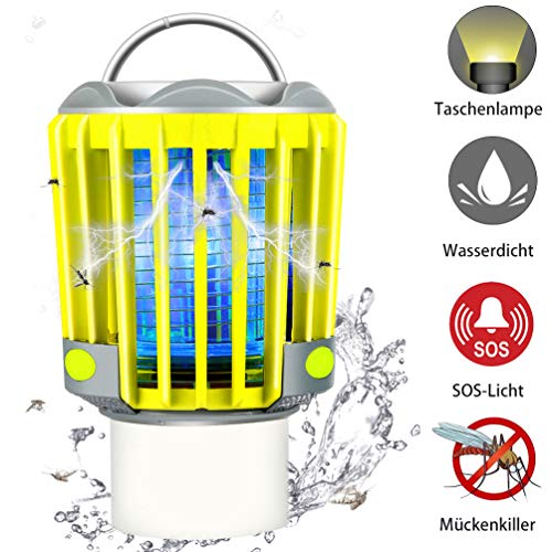 RUNACC Campinglampe LED Laterne Outdoor Wasserdicht IP66 mit 2200mAh Akku, Bug Zapper Mosquito Killer Taschelampe Mückenlampe Insektenvernichter Insektenfänger Moskitolampe
