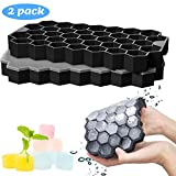 Silicone Ice Cube Trays, BPA Free Ice Cube Moulds with Lids for Freezer