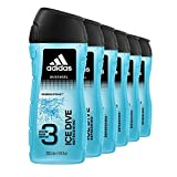 adidas Ice Dive Duschgel - mit 3-in-1 Formulierung für Gesicht, Körper und Haar & ein...