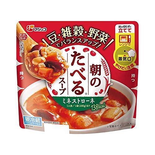 【クール便】フジッコ 朝のたべるスープ ミネストローネ 200g×10食