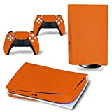 3CTOP Sticker Skin Protector Decals for PS5 Playstation 5 Disk Edition Console and 2 Controllers Matte Orange