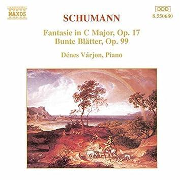 SCHUMANN, R.: Fantasie Op. 17 / Bunte Blatter Op. 99