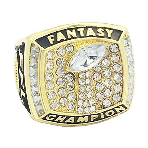 2017 Fantasy Football Team Ring Meisterschaft Ringe, Champion Ring Replica für Fans Herren Geschenkideen,Without Box,12