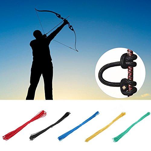 Tbest D Cuerda de Lazo Arco de Arco Compuesto Cuerda D Ballesta Cuerda de Lazo Nylon Nock Lanzamiento Seguro D Accesorios de Lazo para Entrenamiento de Caza Accesorios de Arco Compuesto - 20m(Negro)