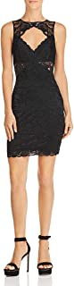GUESS Women's Silvana Lace Cut-Out Party Dress