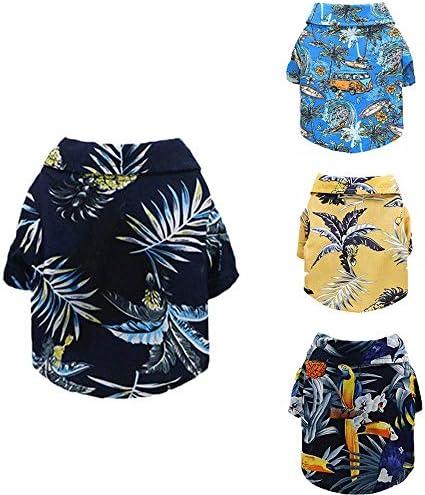 Jingon Dog Shirt Pet Puppy T Shirt Clothes Clothing Coat Jacket Hawaiian Style T Shirt Suitable product image