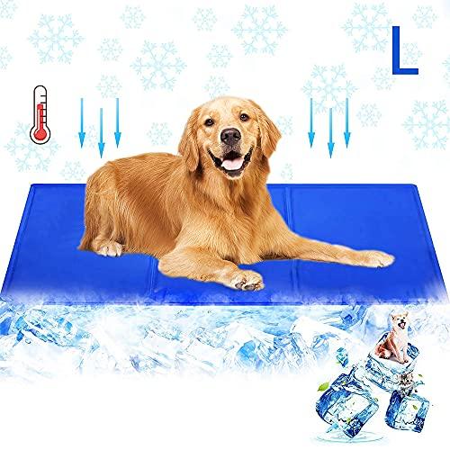 AlfaView Alfombra de enfriamiento para Mascotas para Perros y Gatos Estera de Gel enfriamiento automático activada por presión para Perrera Jaula Cama, Ideal para el hogar Viajes