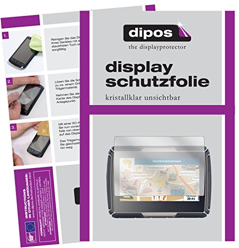 dipos I 3X Schutzfolie klar kompatibel mit NavGear TourMate N4 Folie Displayschutzfolie