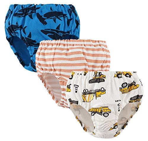 DEMU 3 pak baby ondergoed slip schattig katoen shorts voor kinderen hipster