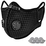 AstroAI Reusable Dust Face Mask with Filters - Personal Protective Adjustable for Running, Cycling, Outdoor...