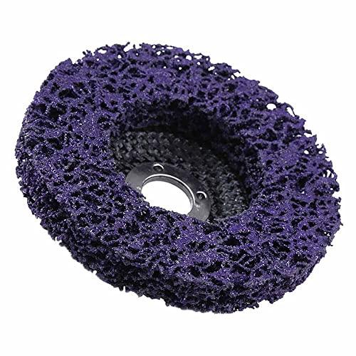 5 unidades, rueda removedora de óxido, pintura limpia y eliminada, soldaduras de óxido, oxidación, rueda de disco de tira de polietileno para eliminación de óxido de 100 mm/4 pulgadas