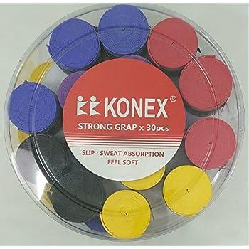 ARFA Aaina Konex Racket grip Sweat Absorption with Soft Feel - Set of 4 Grips (OJ-H1G7-TORK, Multicolour)