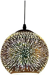 Modern Pendant Light, Motent Industrial Minimalism 3D Colourful Glass Hanging Lamp in Globe Shape, Creative Simplicity Adjustable 1-Light Drop Lighting Fixture, 11.8