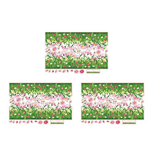 XJF Pegatina de pared extraíble impermeable hierba mariposa flor pie calcomanía -3 piezas