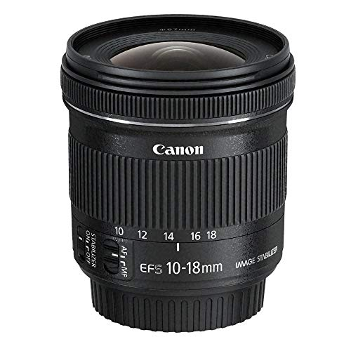 Canon EF-S 10-18 mm f:4.5-5.6 IS STM - Objetivo para Canon (Estabilizador óptico), color negro