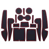 BYWWANG トヨタカローラレビンハイブリッド2016-2018、ドア、スロットワールドカップマットパッドノンスリップマット収納ボックスインテリア