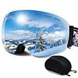 ERUW Ski Goggles - OTG Frameless Snowboard Goggles with...