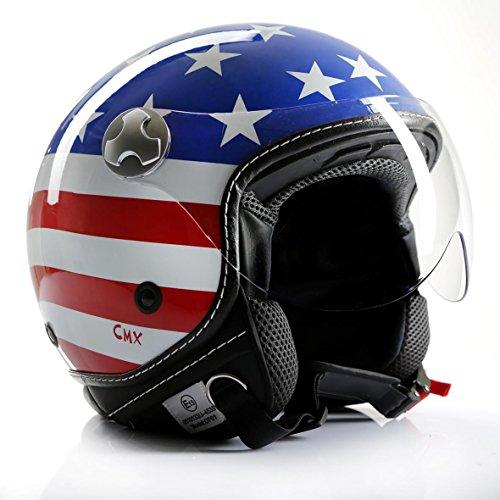 Motorradhelm Jethelm Chopperhelm Cafe Racer CMX Stars and Stripes USA-Flag XL