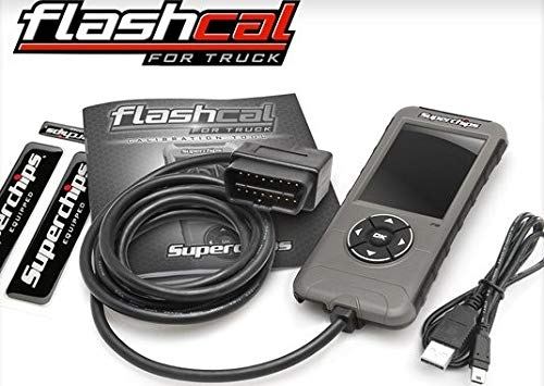 NEW SUPERCHIPS FLASHCAL F5 IN-CAB TUNER,GASOLINE,COMPATIBLE WITH 1999-2020 FORD F-SERIES GAS TRUCKS,1999-2018 FORD F-SERIES DIESEL TRUCKS & 2019 FORD F-150 3.0L POWER STROKE DIESEL ENGINES