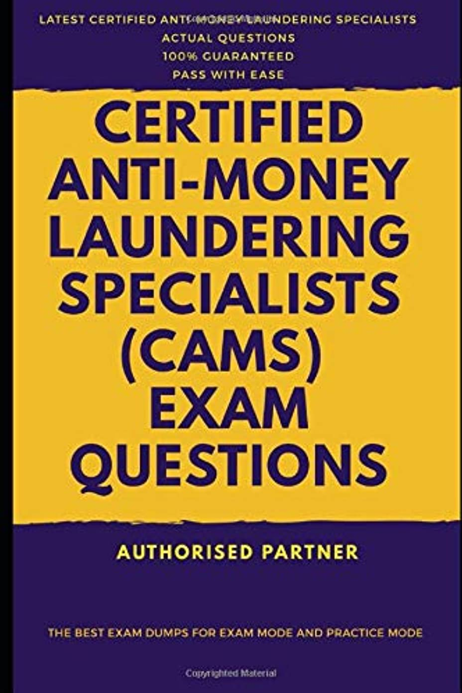 シガレットダイヤル感心するCertified Anti-Money Laundering Specialists (CAMS) Exam Questions