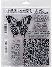 """Stampers Anonymous Tim Holtz Cling Rubber Perspective Stamp Set, 7 x 8.5"""""""