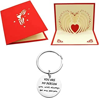 You are My Person You Will Always Be My Person Keychain W/Greeting Card. Gift idea for Your Best Friend Girl/Boy/Women/Men/Husband/Wife/Birthday/Anniversary/Christmas/Valentines Gift for Her/him.