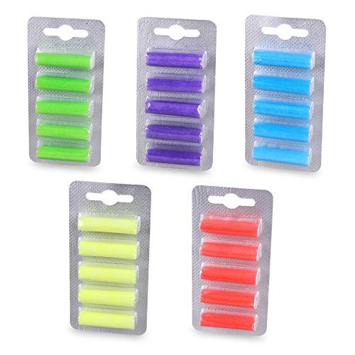 PATONA 5x 5 Duftpatronen Deo Sticks für alle Staubsauger mit Beutel in verschiedenen Duftnoten.