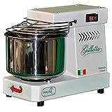 Famag Grilletta IM5 Machine à pain Pétrin à spirale professionnel 5kg pour pain, pizza, biscuits, panettone, gâteaux pour une utilisation professionnelle ou domestique Bianco