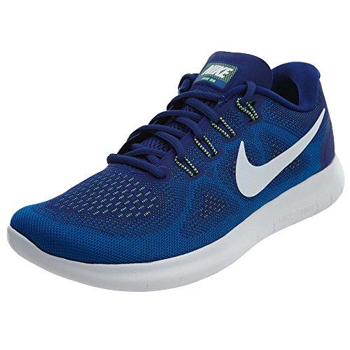Nike Free RN 2017 Deep Royal Blue/White/Soar/Ghost Green Men's Running Shoes