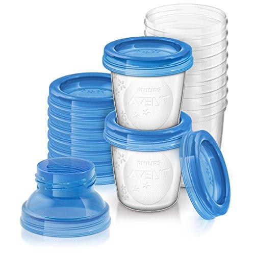 Philips Avent - Set de recipientes para leche materna (10 recipientes + 10...
