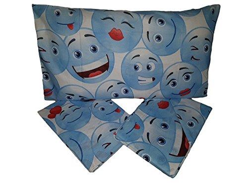 Lenzuola Completo Letto IRGE Art. Smile Letto Singolo 100% Cotone (Azzurro)