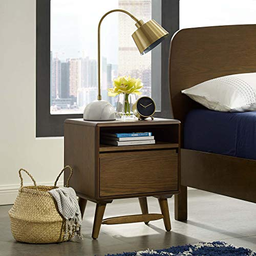 Modway Talwyn Rustic Modern Wood 2-Drawer Bedroom Nightstand In Chestnut -  MOD-6065-CHN