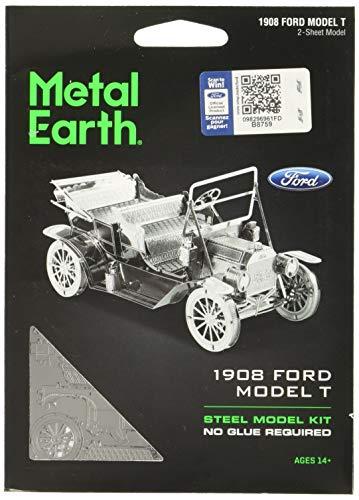 Metal Earth- Coche Clásico Ford T 1908, Color plateado (Fascinations MMS051) , color/modelo surtido