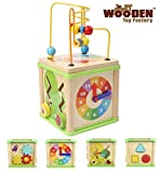 The Wooden Toy Factory - Cubo de Actividades 5 en 1 - Juguete de Madera...