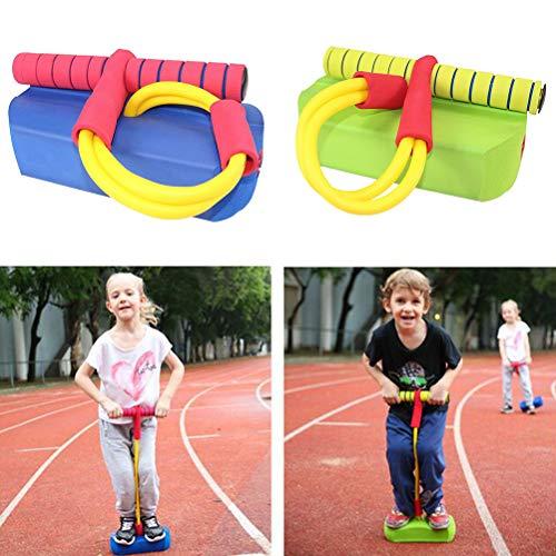FuYouTa Bungee Jumper und Haltbarer Schaumstoff Pogo Stick Hüpfstab Bungee Hopper Soft Pogo Stick für Kinder Foam Pogo Jumper Lustiger und sicherer Jumping Stick Pogo Stick für Kinder und Erwachsene