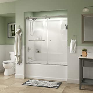 Delta Shower Doors SD3927440 Classic Semi-Frameless Contemporary Sliding Bathtub 60