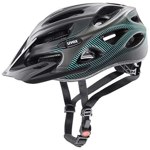 Uvex Unisex– Erwachsene, onyx cc Fahrradhelm, black teal mat, 52-57 cm