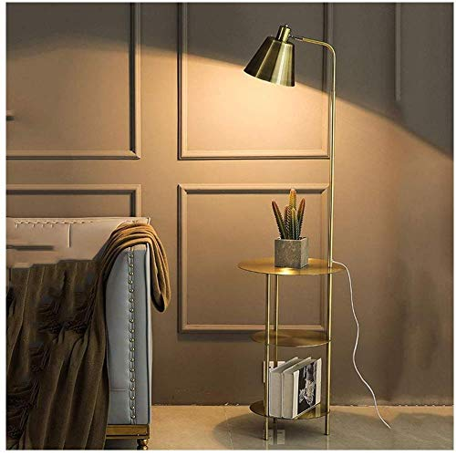 Lámpara de pie, Interruptor de pie Lámpara de Dormitorio, Estante nórdica Moderna Minimalista de Noche Sala de Estar Sofá,A,Sound control dimming