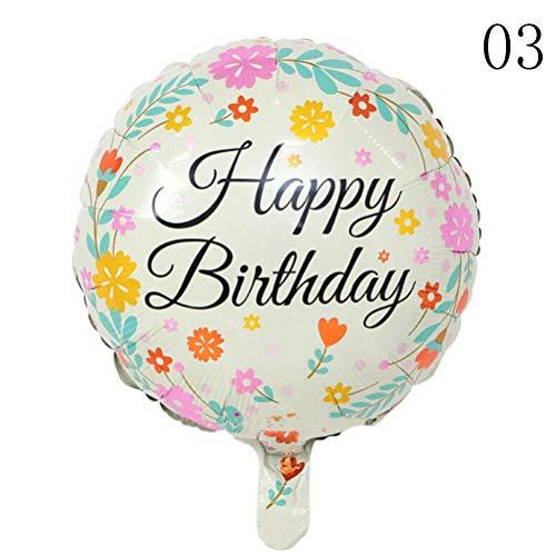 Ballons Accessoires - Baby Douche 5 stks Ballons Helium Ballon Party Decoratie 18 Inch Gelukkige Verjaardag Foil Ballonnen - Accessoires Ballons Ballonnen Ballons Accessoires Verjaardag Jaar Feestfolie 3